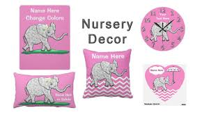 Pink Elephant Nursery Decor by Pink And Gray Elephant Nursery Decor For Girls Youtube
