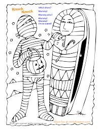 knock knock joke coloring page