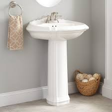 amias porcelain pedestal sink bathroom