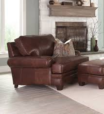 Chair And A Half Recliner Leather Chair Axiom Traditional Walnut Leather Wood Chair And A Half