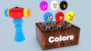 learn colors children wooden colour angry birds toys kids