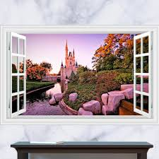 home decor 3d landscape wall stickers for living room removable