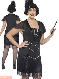 ladies curves flapper costume charleston fancy dress plus