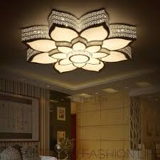 Wrought Iron Ceiling Lights Simple Lotus Shaped Wrought Iron Ceiling Light Fixtures Led