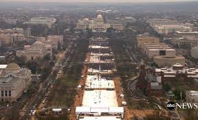 inauguration attendance is noticeably less than expected