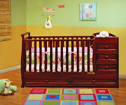Convertible Crib With Storage Athena Convertible Crib And Changer Cherry Baby