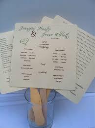 Program Fan Template 84 Best Wedding Programs Images On Pinterest Fan Programs