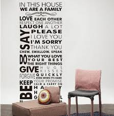 Family House Rules Online Shop House Rule Wall Decals Rules Of Our Family Removable