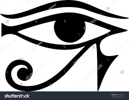 sun eye horus moon eye stock vector 125308454