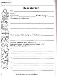 third grade book report template book summary template free