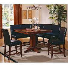leather corner bench dining table set kitchen glamorous corner kitchen table and black leather chairs
