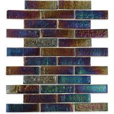 splashback tile iridescent raven 9 3 4 in x 13 in x 8 mm glass