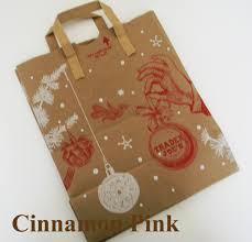 diy christmas gift tags using trader joe grocery bags cinnamon pink