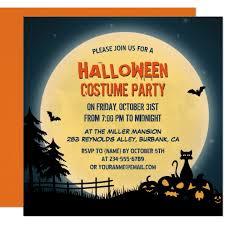 Halloween Costume Party Invitations Personalized Halloween Party Invitations Custominvitations4u