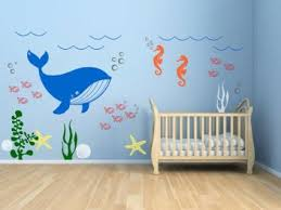 Wall Stickers For Kids Rooms by Amazon Com Kids Room Vinyl Wall Decal Underwater Theme Seaweed
