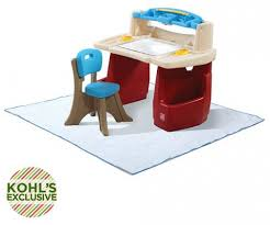 step 2 deluxe art desk step2 deluxe art desk with splat mat only 67 99 free shipping