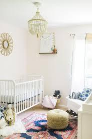 Pottery Barn Dahlia Chandelier Caitlin Kruse U0027s Nursery Tour Glitter Guide
