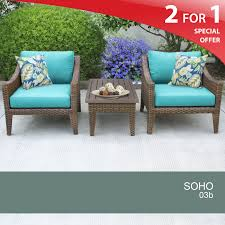 Wicker Patio Furniture Set - details about 3 piece wicker patio shop hanover outdoor furniture
