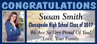 high school senior banners chesapeake high school graduation banners
