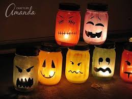 How To Use Mason Jars For Decorating Halloween Luminaries Spooky Colorful Painted Jars