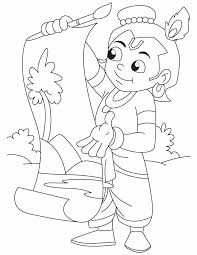baby krishna coloring pages getcoloringpages