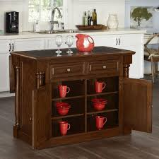 wooden kitchen island monarch oak kitchen island with granite top 5006 945 the home depot