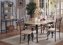 Rod Iron Dining Chairs Nice Ideas Wrought Iron Dining Table Stylist Inspiration Wrought