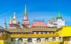 russische architektur die russische architektur izmailovsky markt stockfoto bild