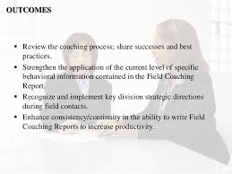 coaches report template field sales conference report workshop presentation
