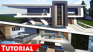 minecraft modern house interior design tutorial how to make