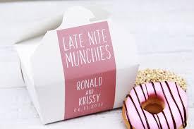 midnight snack late nite snack wedding cake favor box donut