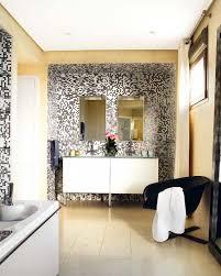 Stylish Bathroom Ideas Simple Yet Stylish Bathroom Design With Pixilated Walls Digsdigs