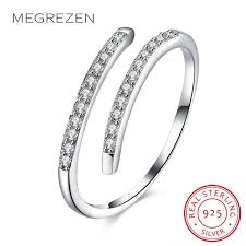 sterling silver wedding gifts 925 sterling silver finger ring with zircon woman simple jewelry