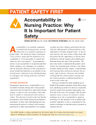 Sample Perioperative Nurse Resume Accountability In Nursing Practice Why It Is Important For