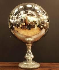Gazing Globe Pedestal Large Antique Mercury Gazing Ball Olde Good Things