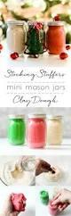 stocking stuffer ideas mini mason jar christmas clay dough