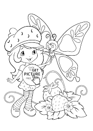 coloring pages of butterfly shortcake coloring pages with butterfly printable free