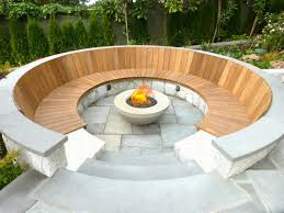 Backyard Bench Ideas by Bench Wooden Fire Pit Bench Diy Fire Pit Bench Design Ideas