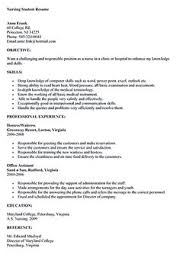 Resume Examples Nursing by Nursing Student Resume Clinical Experience Google Search