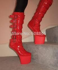 womens boots no heel 20cm no heel high heels platform boots with buckle