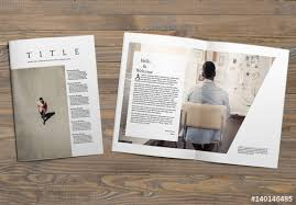 layout template en français minimalist magazine layout buy this stock template and explore