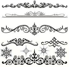 design clipart ornamental pencil and in color design clipart
