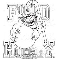 royalty free hockey stick stock coloring designs
