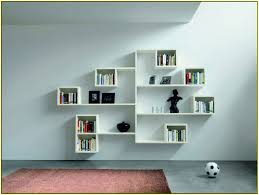 Wall Mounted Bookshelves Wood by Living Room Colorful Wood Bookshelves Grey Color Wall Modern