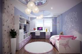 interior gorgeous purple edge color scheme for girls bedroom with
