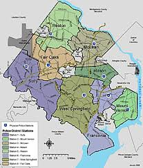 fairfax county map district stations fairfax county virginia
