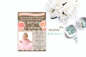 baptism birthday invitations joint birthday baptism invites