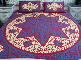 handmade applique bedsheet fabric pure cotton piece 5 piece