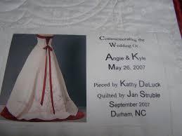 wedding dress quilt label on back of wedding dress quilt photo quiltsandpurses