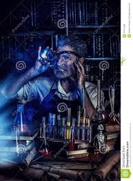 halloween lab lab inventor stock photo image 44071689